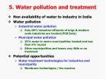 5 water pollution and treatment