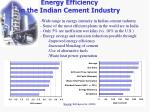 energy efficiency in the indian cement industry