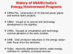history of usaid india s energy environment programs