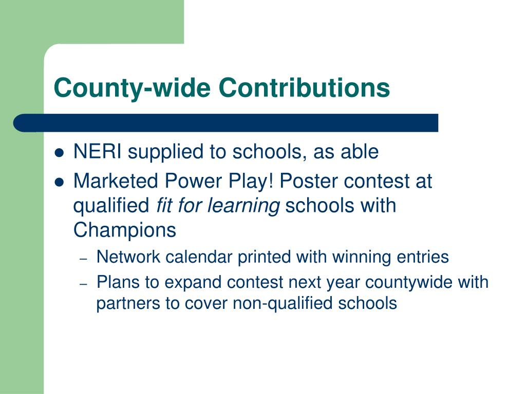 County-wide Contributions
