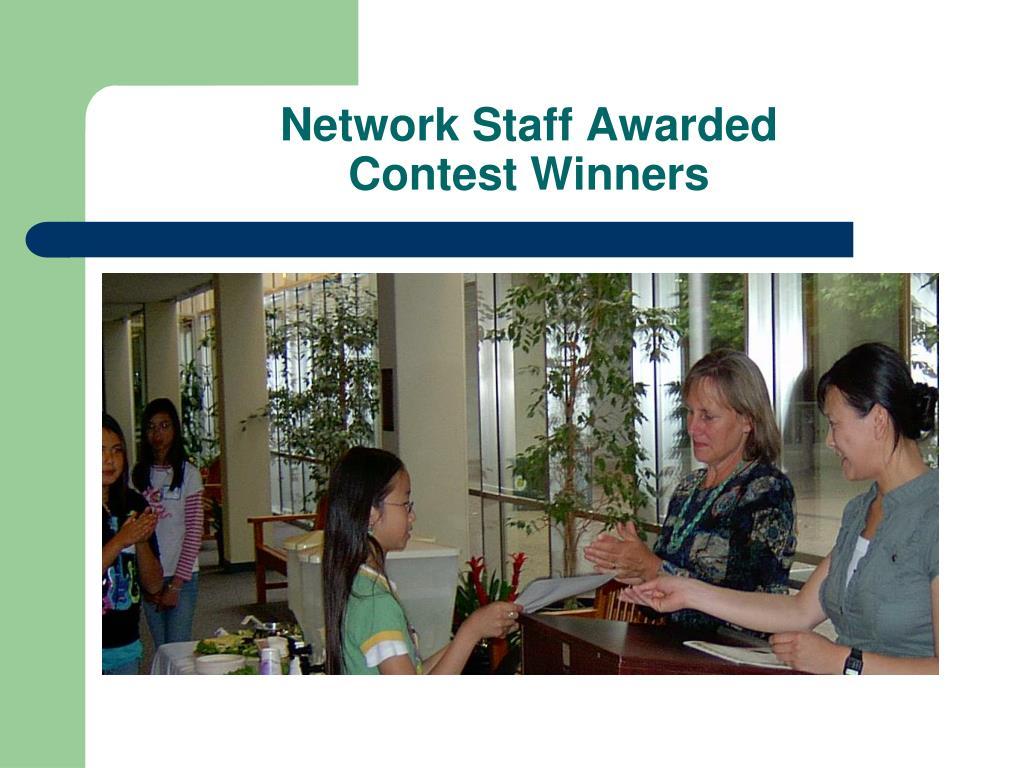 Network Staff Awarded
