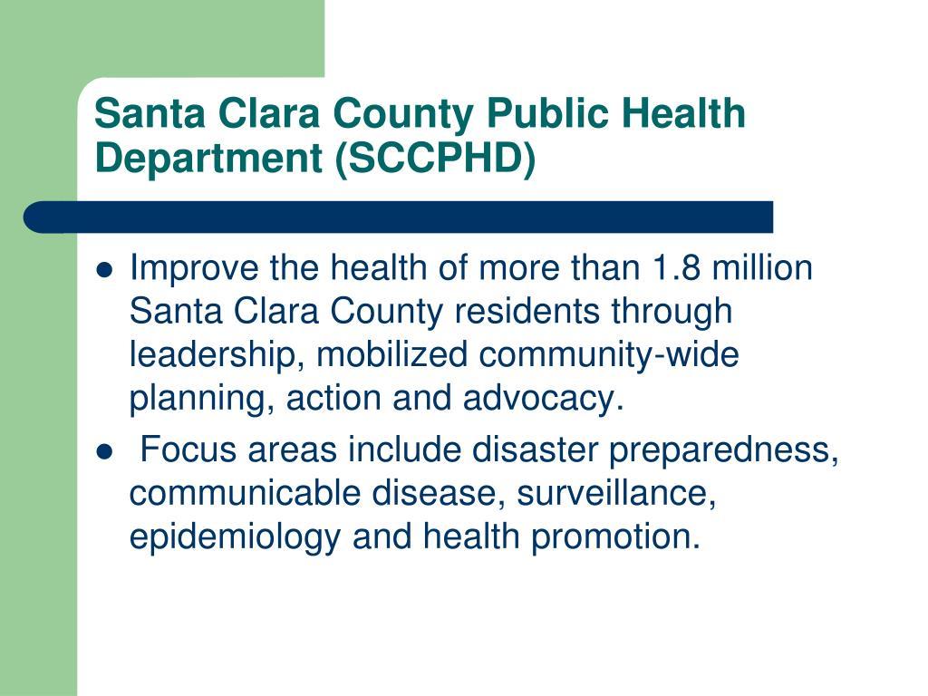 Santa Clara County Public Health Department (SCCPHD)