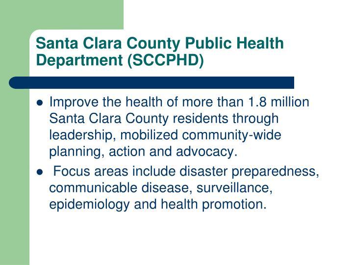 Santa clara county public health department sccphd