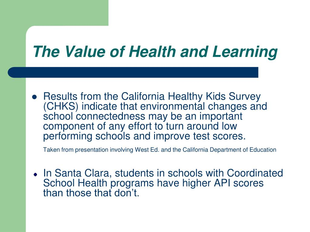 The Value of Health and Learning