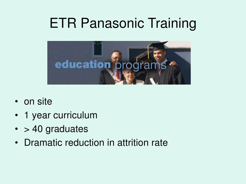 ETR Panasonic Training