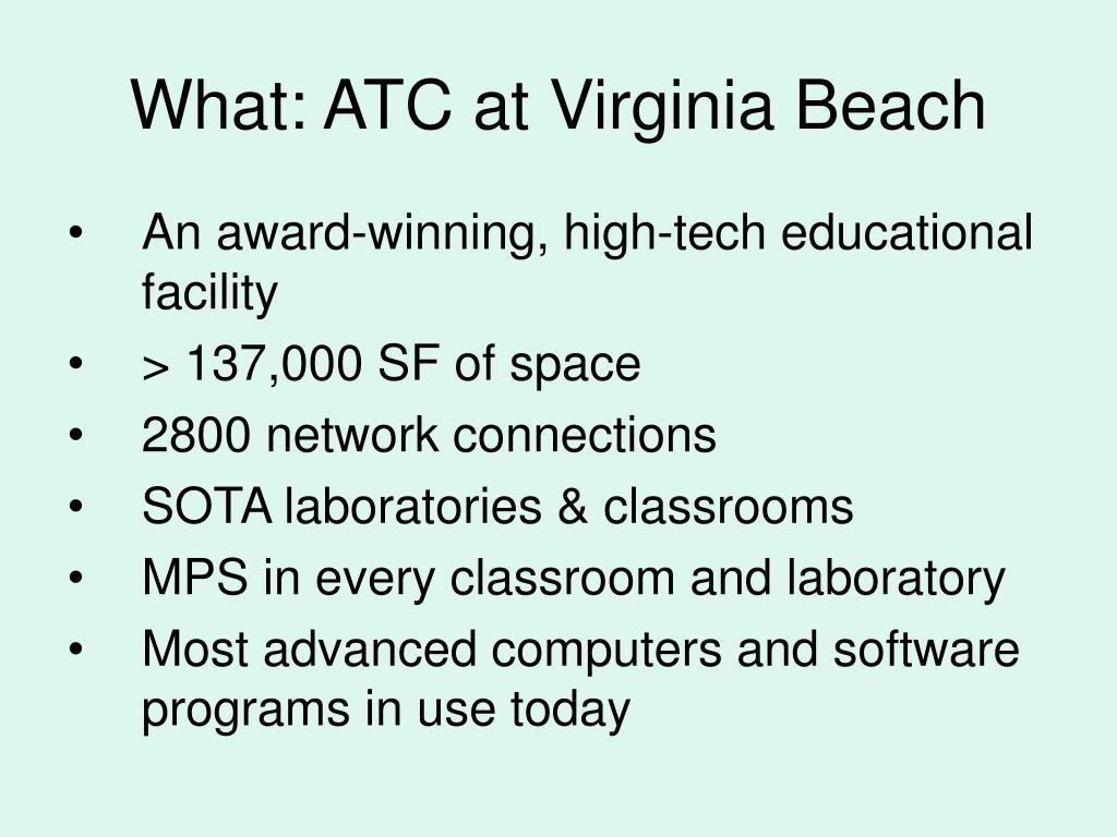 What: ATC at Virginia Beach
