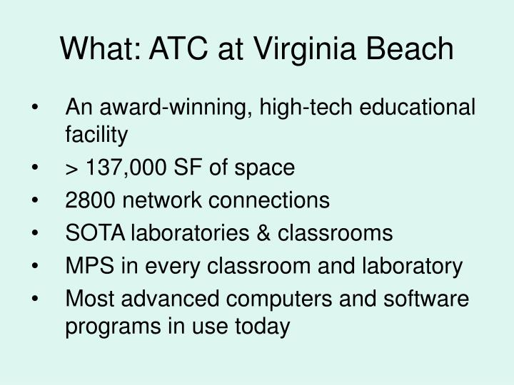 What atc at virginia beach