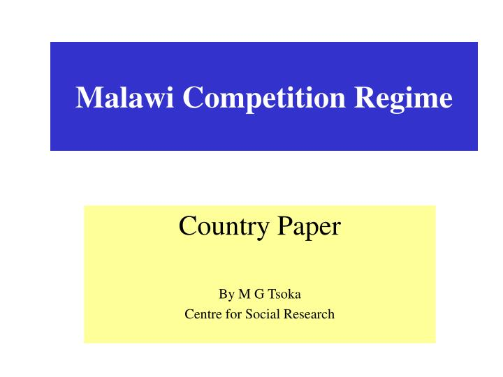 Malawi competition regime