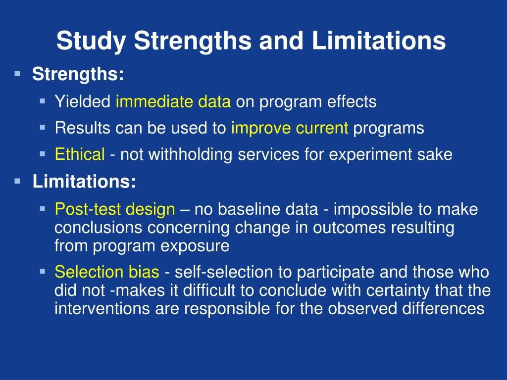 Study Strengths and Limitations