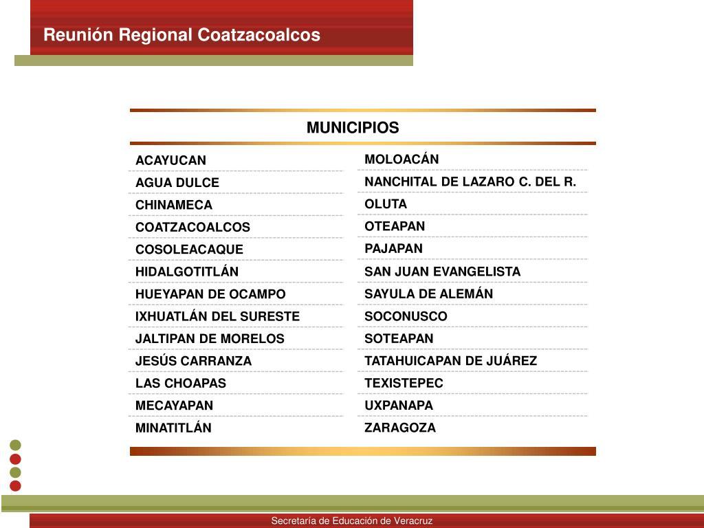 Reunión Regional Coatzacoalcos