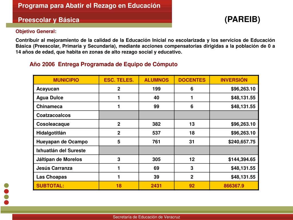 Programa para Abatir el Rezago en Educación
