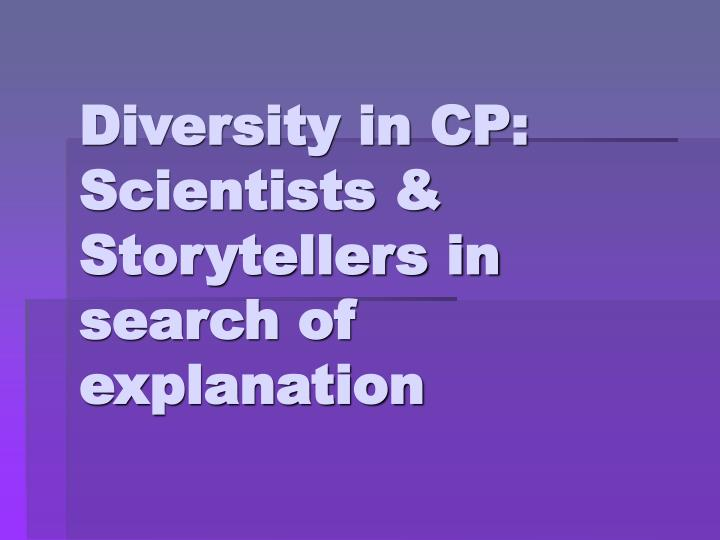 Diversity in CP: