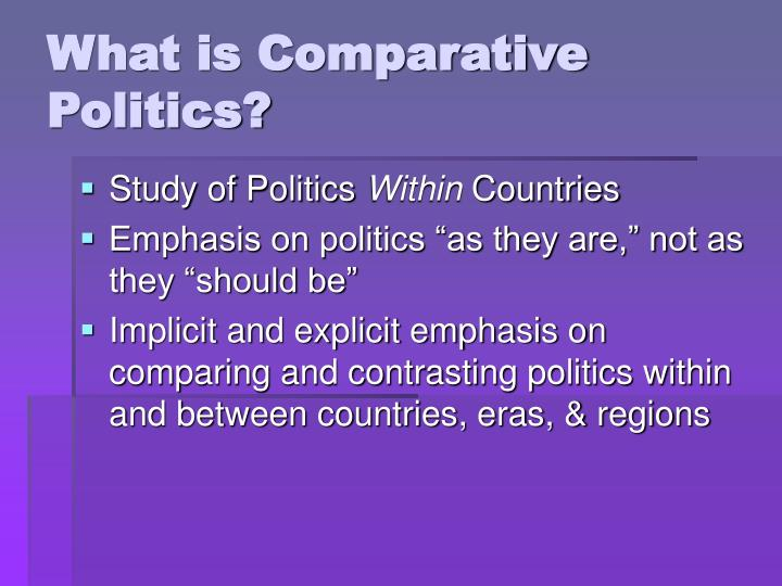 What is comparative politics