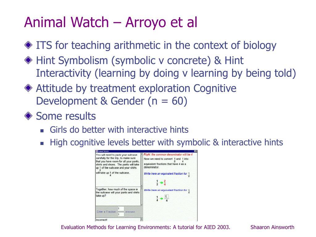 Animal Watch – Arroyo et al