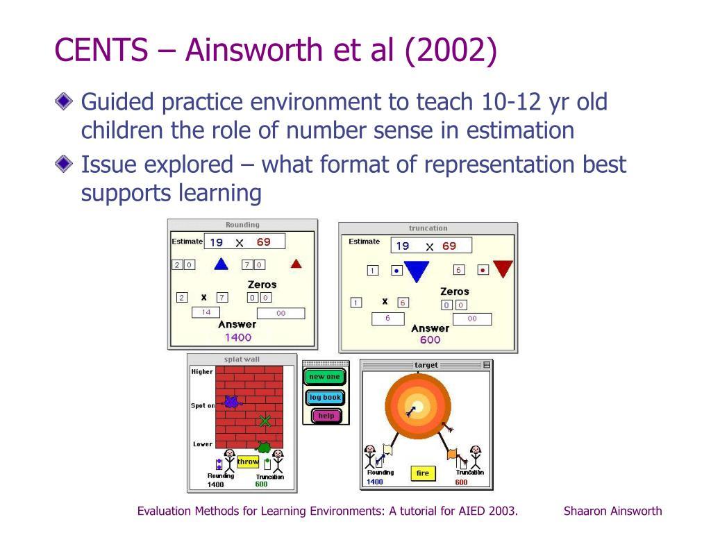 CENTS – Ainsworth et al (2002)