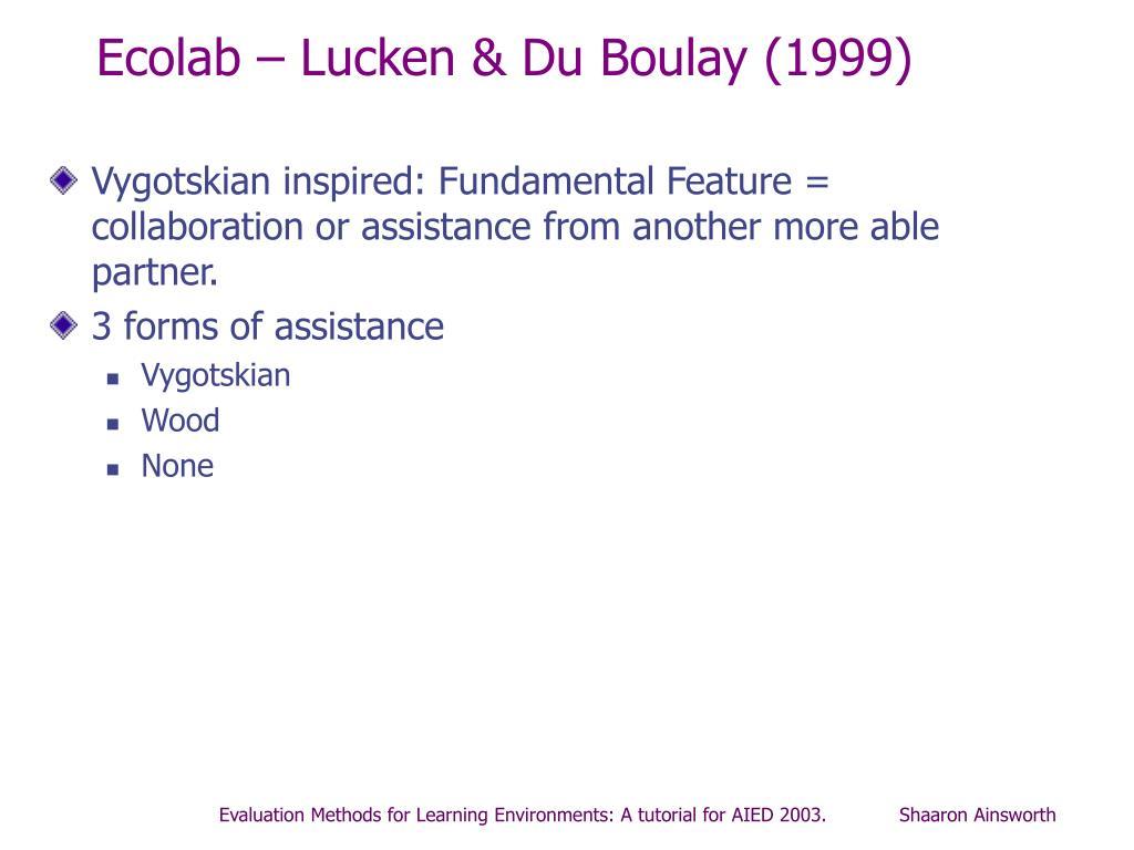 Ecolab – Lucken & Du Boulay (1999)
