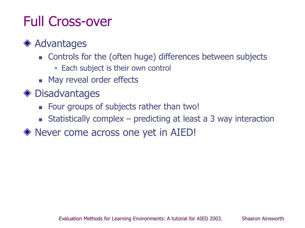 Full Cross-over