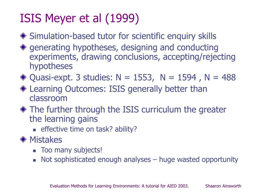 ISIS Meyer et al (1999)