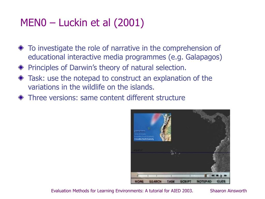 MEN0 – Luckin et al (2001)