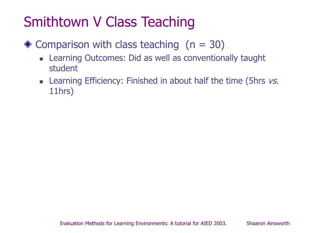 Smithtown V Class Teaching
