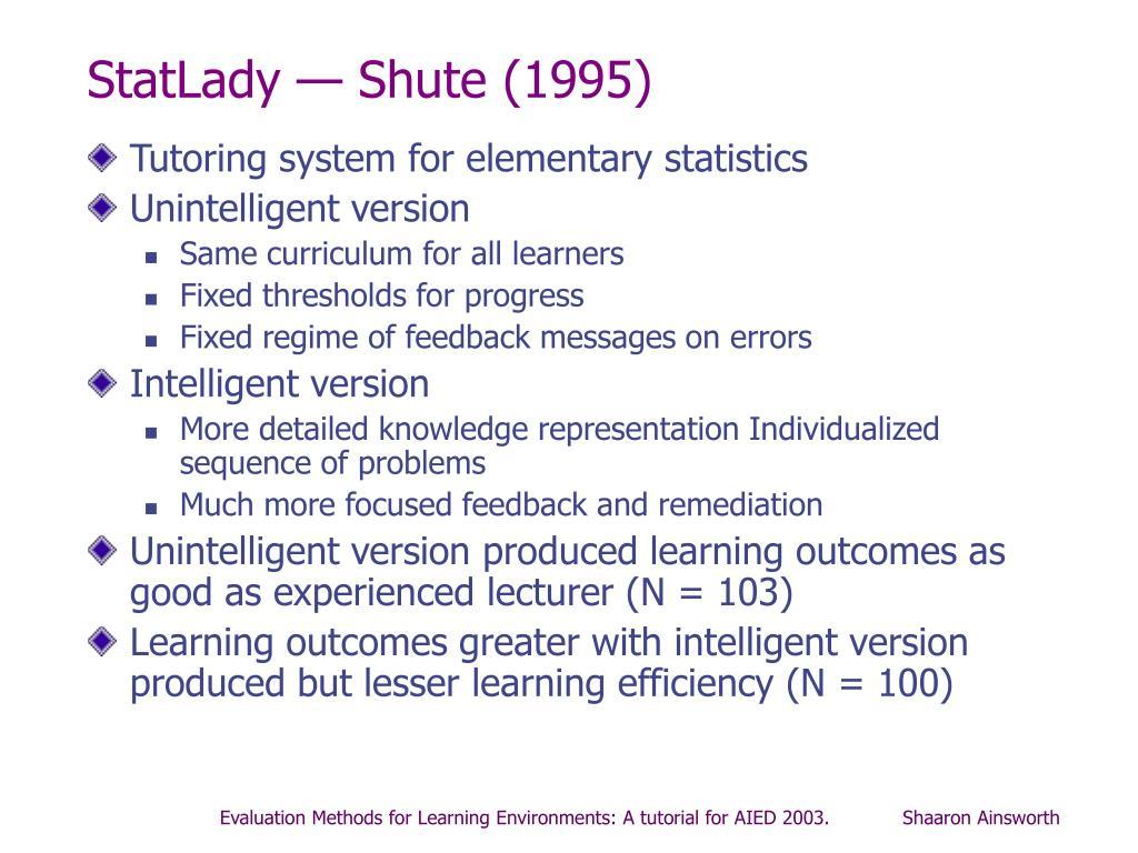 StatLady — Shute (1995)