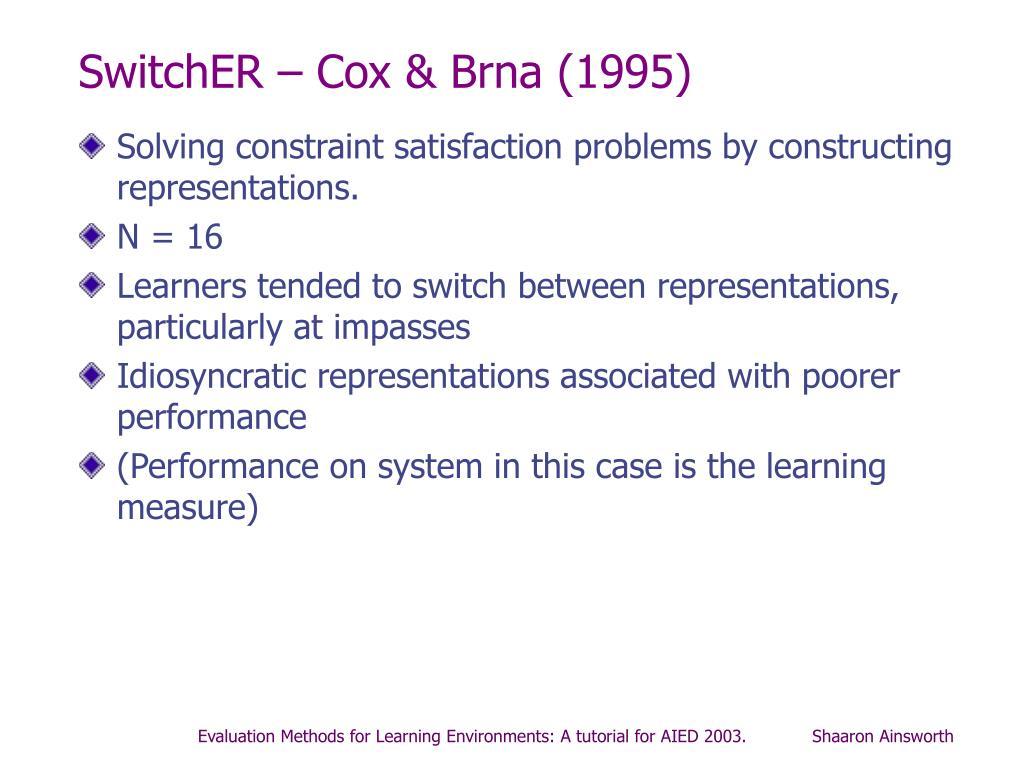 SwitchER – Cox & Brna (1995)