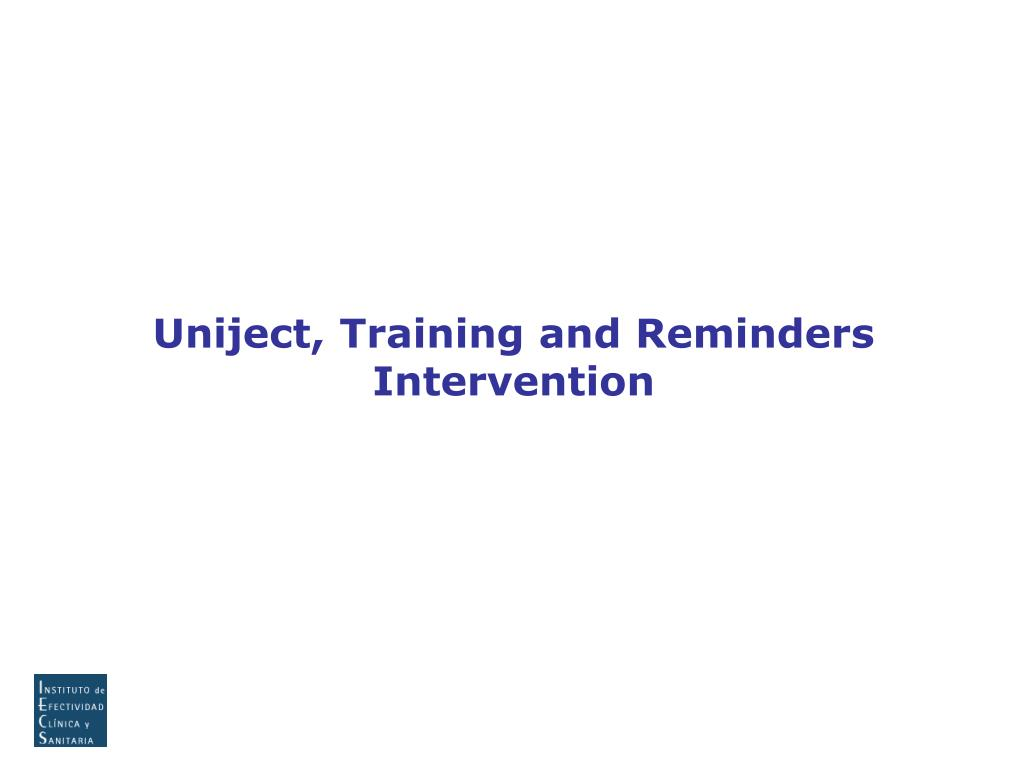 Uniject, Training and Reminders