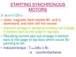 starting synchronous motors11