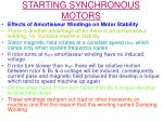 starting synchronous motors14