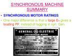 synchronous machine summary17