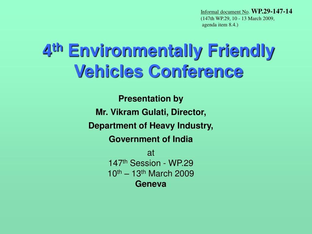 4 th environmentally friendly vehicles conference l.
