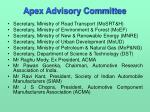 apex advisory committee