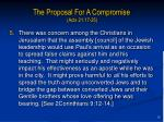 the proposal for a compromise acts 21 17 2512