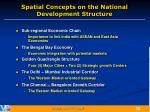 spatial concepts on the national development structure