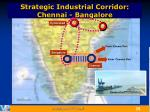 strategic industrial corridor chennai bangalore