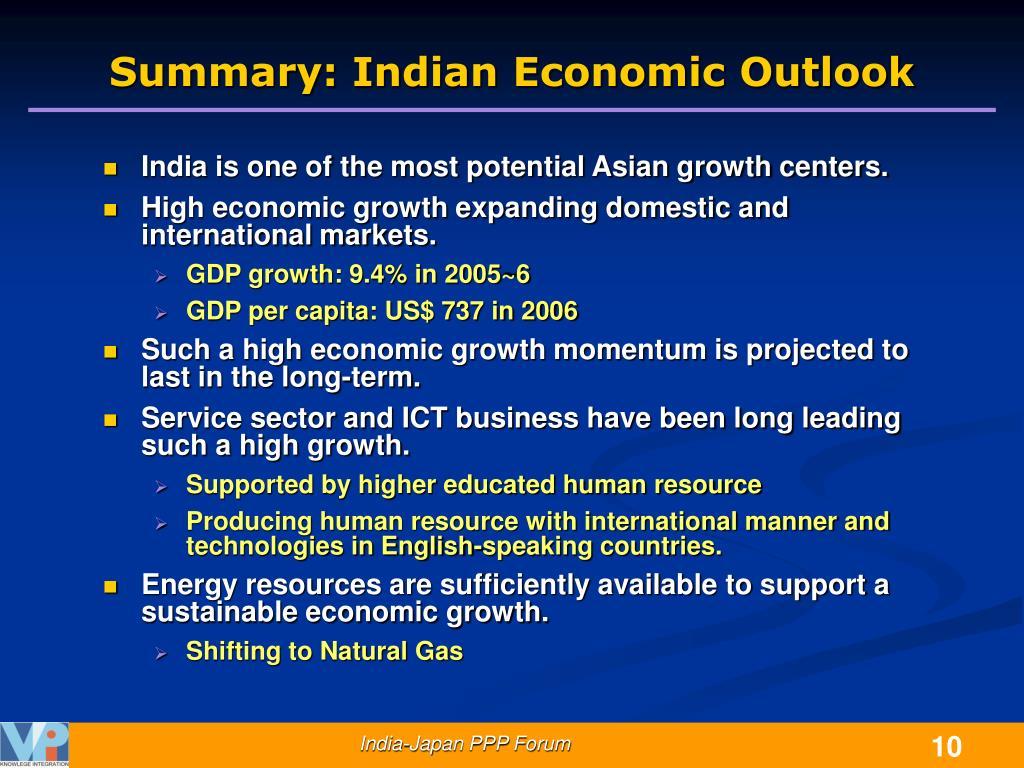Summary: Indian Economic Outlook