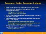 summary indian economic outlook