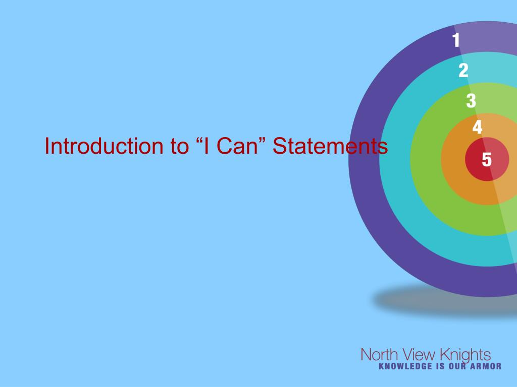 introduction to i can statements l.