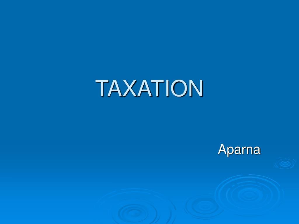 taxation l.
