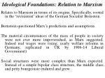 ideological foundations relation to marxism