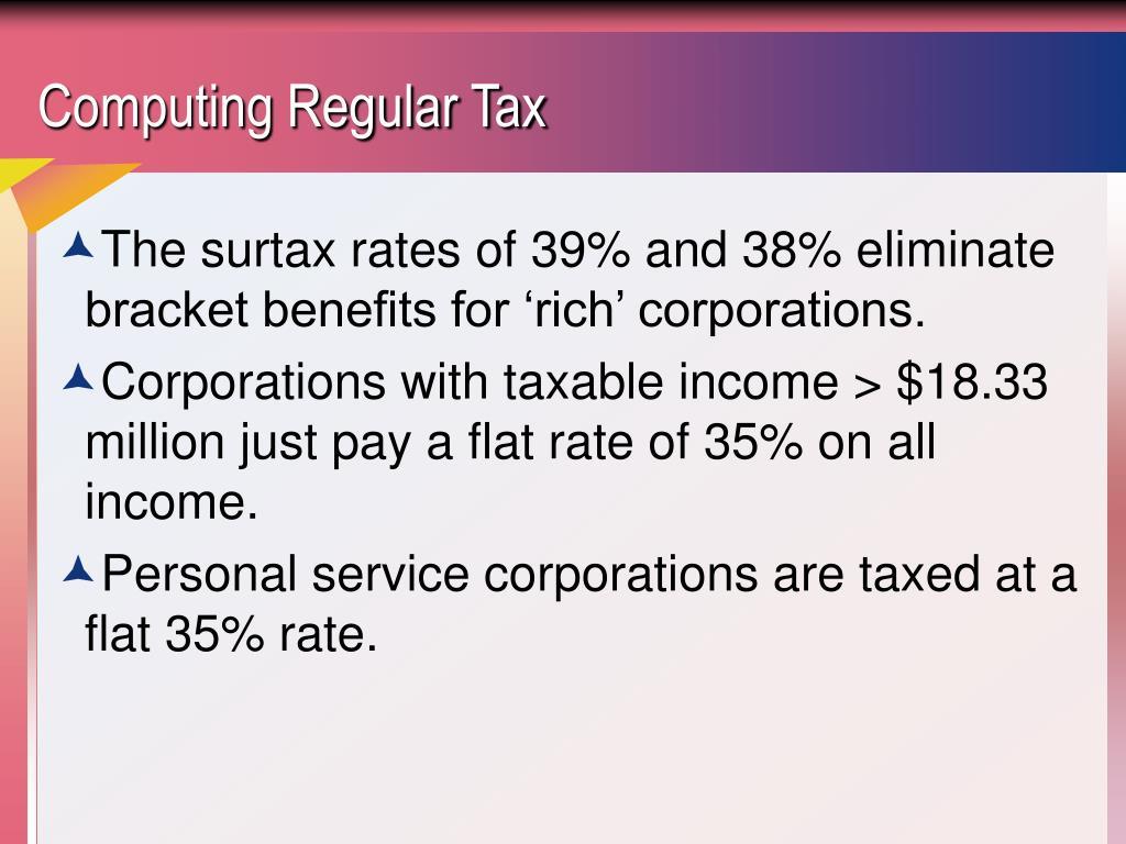 Computing Regular Tax