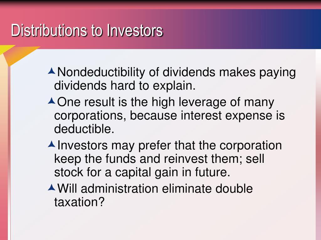 Distributions to Investors