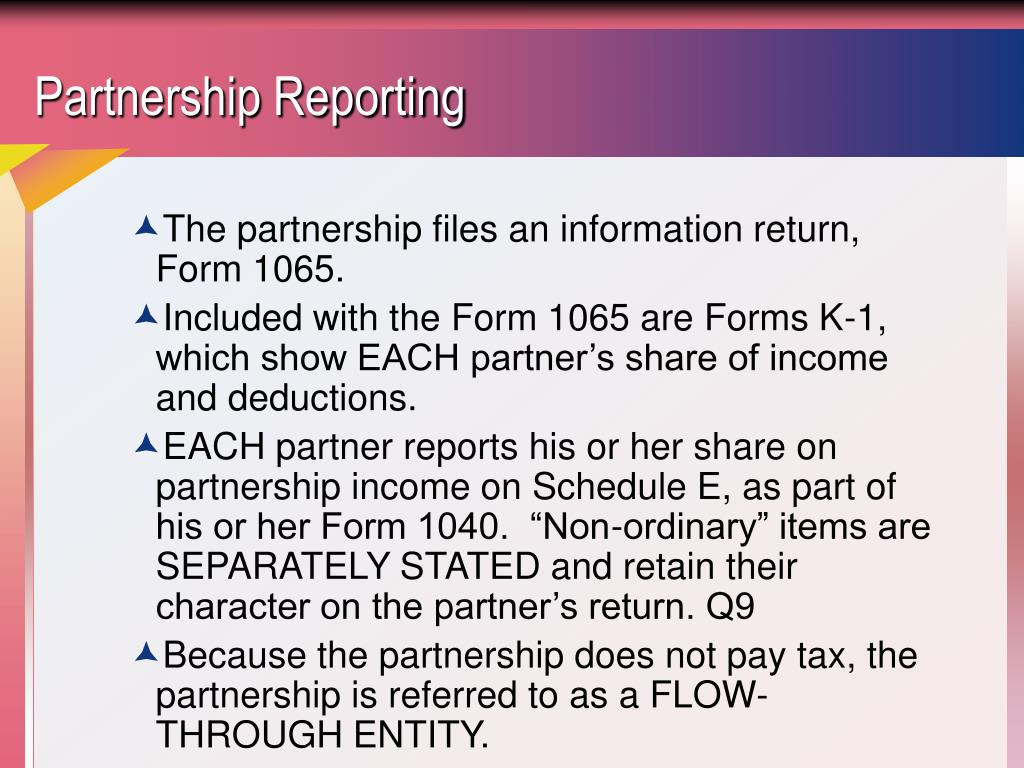 Partnership Reporting
