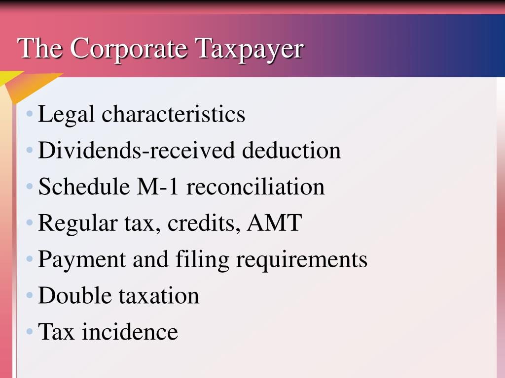 The Corporate Taxpayer