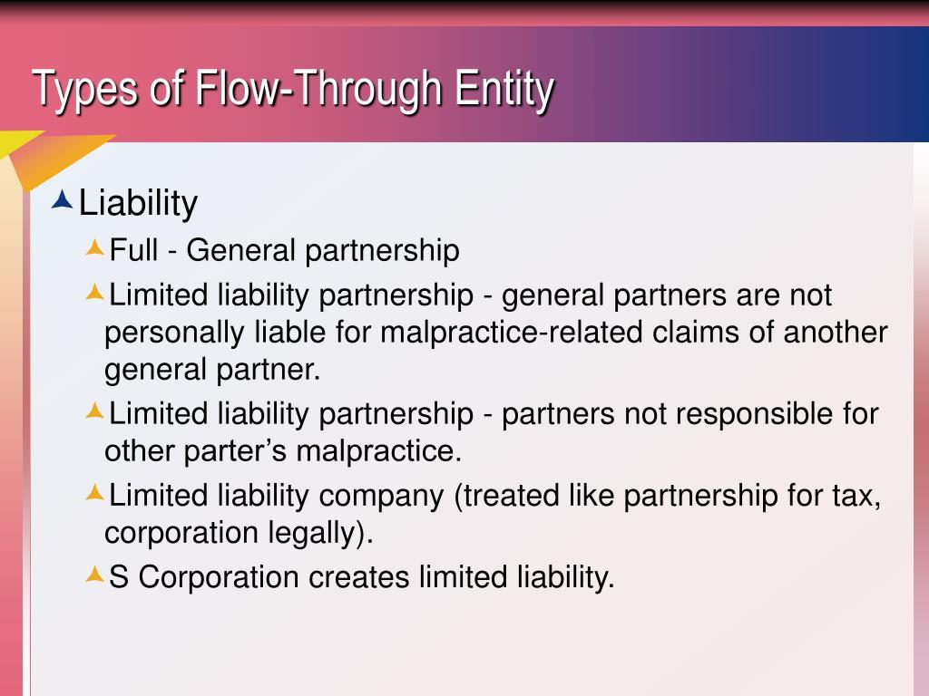Types of Flow-Through Entity