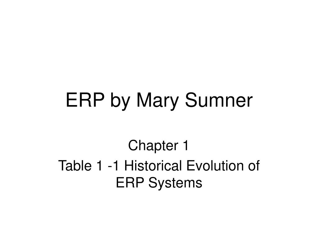 erp by mary sumner l.