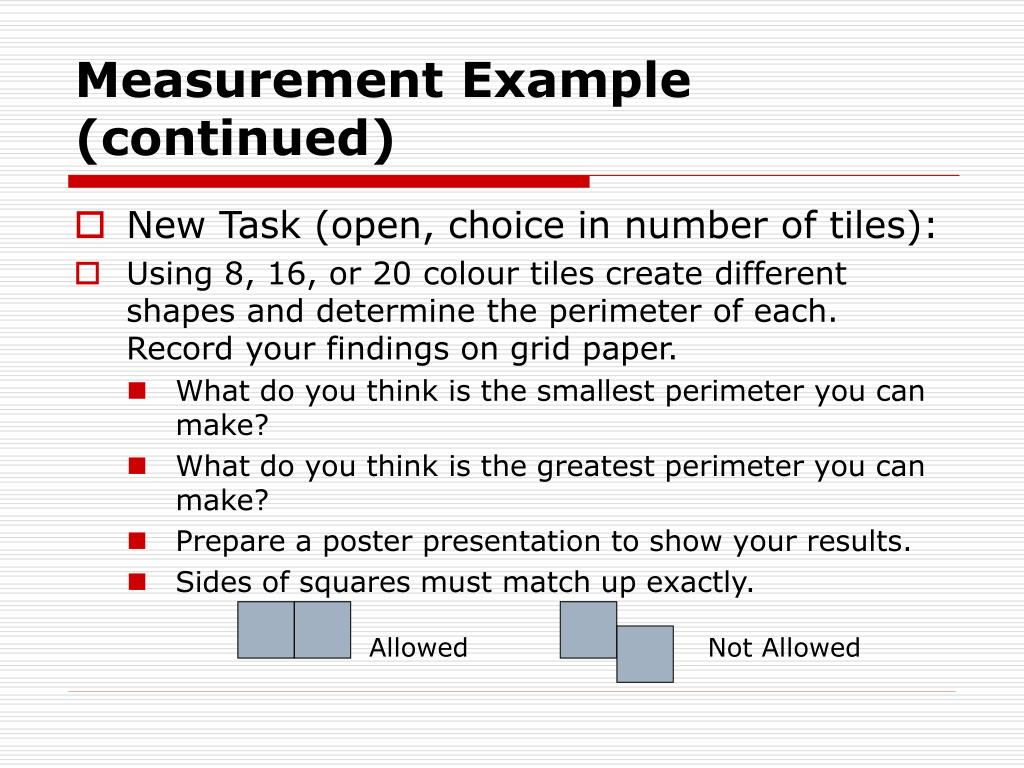 Measurement Example (continued)