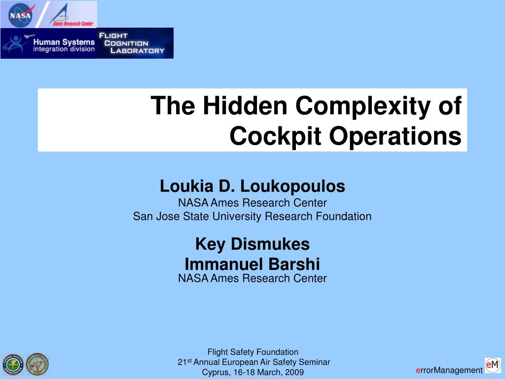 the hidden complexity of cockpit operations l.