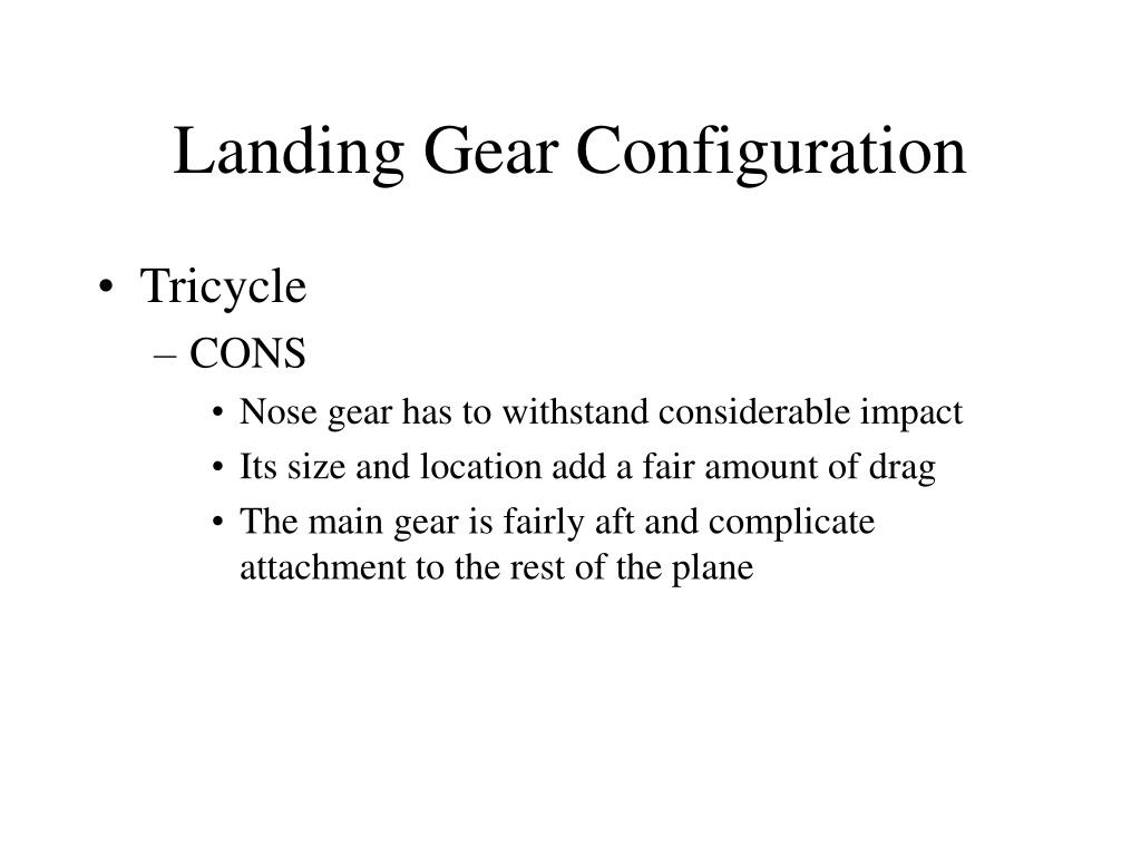 Landing Gear Configuration