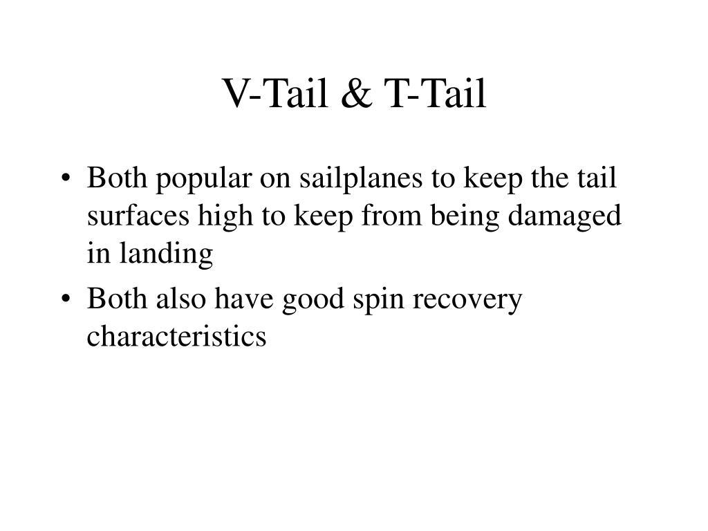 V-Tail & T-Tail